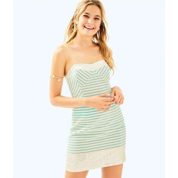 Lilly Pulitzer Blue Striped Cotton Remi Dress 2